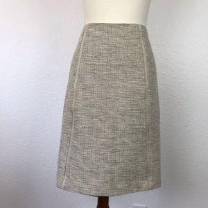 T Tahari Exposed Back Zip Pencil Lined Skirt SK207